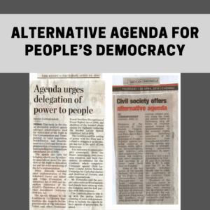 Alternative Agenda for People's Democracy