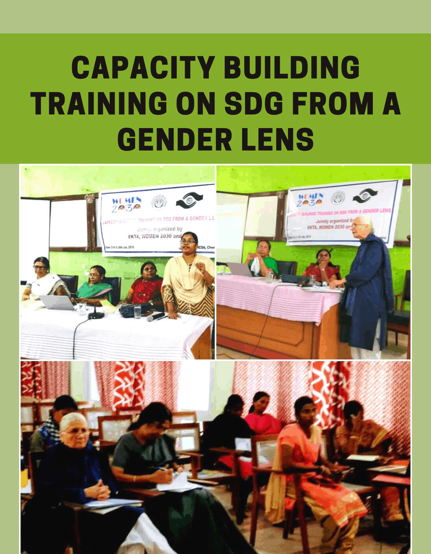 Capacity Building Training on SDG from a Gender Lens