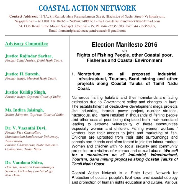 Election Manifesto 2016 on Coast
