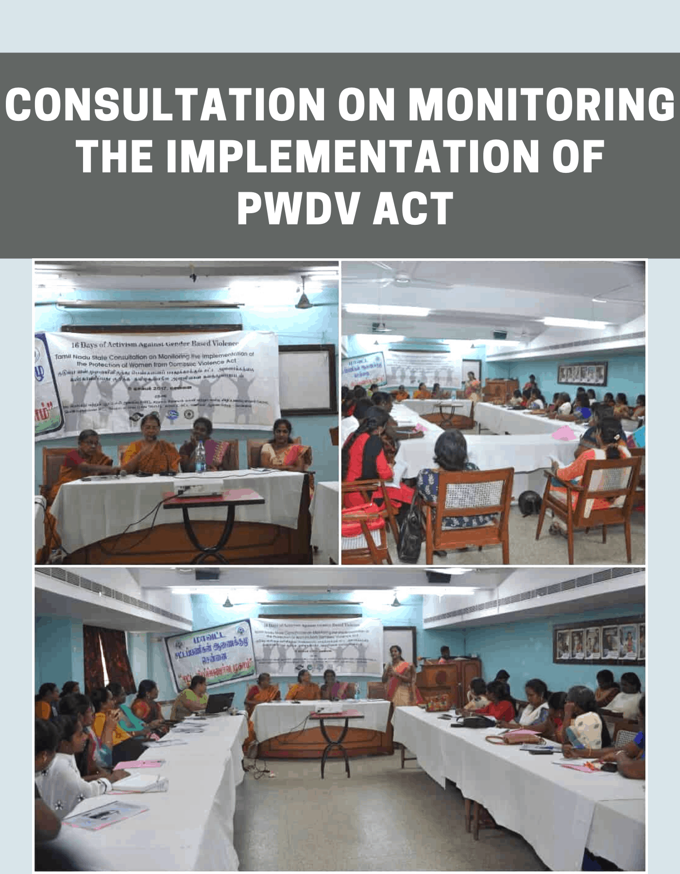 Consultation on Monitoring the Implementation of PWDV Act