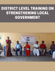 District Level Training on Strengthening Local Government