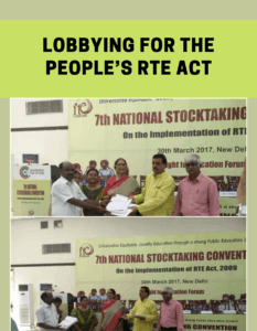 Lobbying for the People's RtE Act
