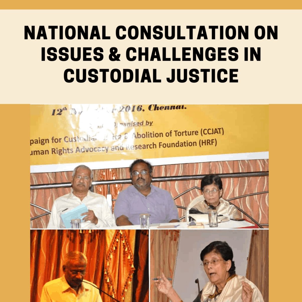 National Consultation on issues & challenges in Custodial Justice