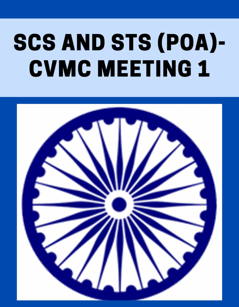 SCs and STs (PoA)-CVMC Meeting 1