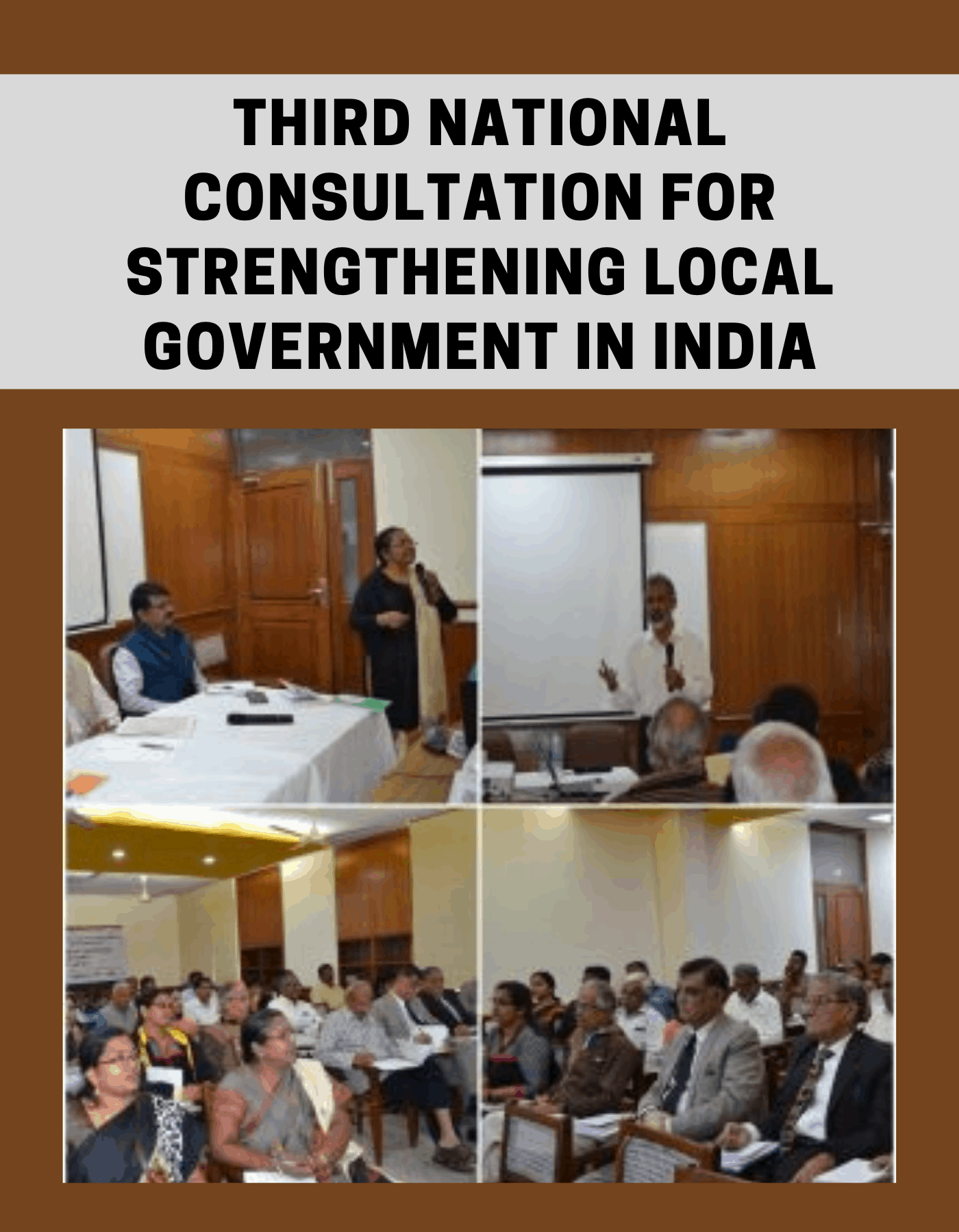 Third National Consultation for Strengthening Local Government in India